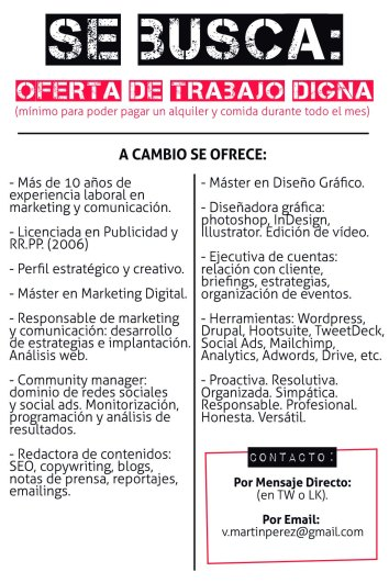 Anuncio por Palabras CV_Se Busca Trabajo_Victoria MartínPérez_Marketing Digital y Social Media Girl